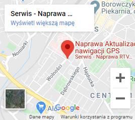mapa dojazdu do serwisu